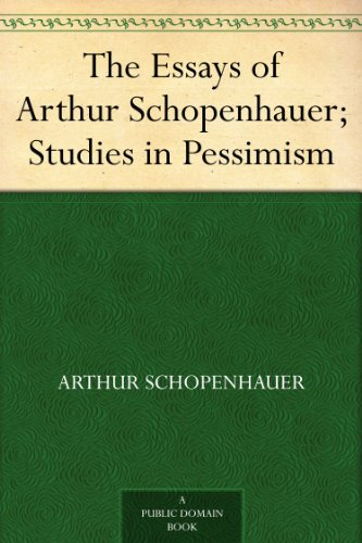 arthur schopenhauer essays Essays and aphorisms has 7,793 ratings and 354 reviews glenn said: arthur schopenhauer wrote his essays and aphorisms in the financial hub city of fra.