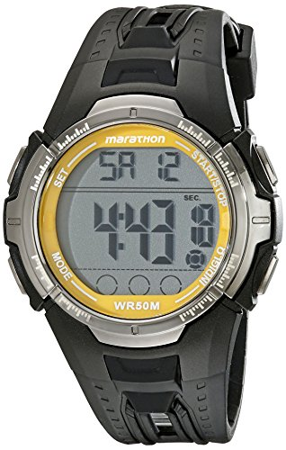 marathon-by-timex-mens-t5k803-digital-full-size-black-yellow-resin-strap-watch