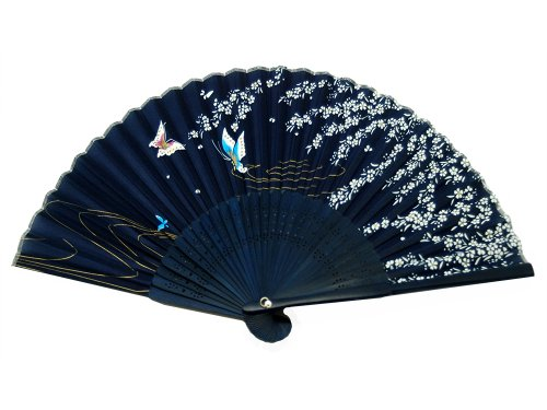 Generic 1Xjapanese Design Silk Handheld Folding Fan (Fan Folding compare prices)