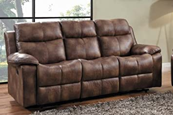 Home Elegance 9635PM-3 Brooklyn Heights Double Reclining Sofa