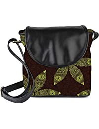 Snoogg Floral Seamless Pattern Womens Sling Bag Small Size Tote Bag