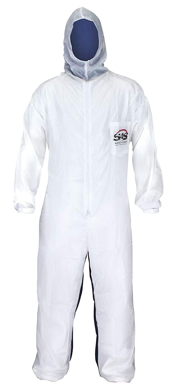 SAS Safety 6938 Moon suit Nylon Cotton Coverall, Large