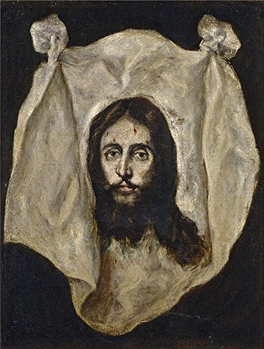 Oil Painting 'El Greco The Holy Visage 1590 95 ' Printing On Polyster Canvas , 18 X 24 Inch / 46 X 60 Cm ,the Best Living Room Artwork And Home Decoration And Gifts Is This Replica Art DecorativeCanvas Prints (Semi Gloss Tile Sealer compare prices)