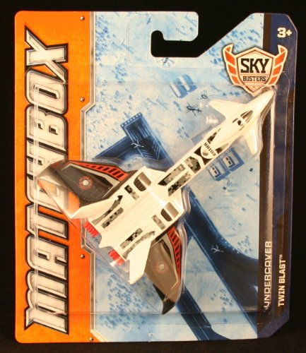 TWIN BLAST * MBX UNDERCOVER * Die-Cast 2012 MATCHBOX Sky Busters Series Airplane