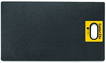 "Wearwell PVC 518 Comfort2Go Heavy Duty Anti-Fatigue Mat, for Dry Areas, 17"" Width x 30"" Length x 7/8"" Thickness, Black"