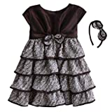 Isobella& Chloe Sleeveless Karen Dress and Headband. Brown. Size (3m-5).
