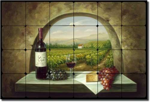 Where To Buy Vineyard View Tuscan Vineyard Tumbled Marble Tile Mural 16 X 24 Kitchen Backsplash Chi Mahfuz