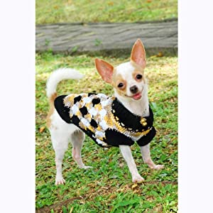 Free Crochet Pattern Chihuahua Sweater : Amazon.com: Myknitt Handmade Crocheted Shell Pattern Puppy ...