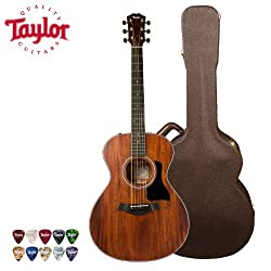 Taylor Guitars 322e with Deluxe Brown Taylor Hardshell Case and Taylor 10-Piece Pick Pack