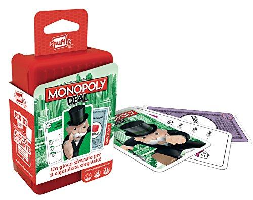 Cartamundi Shuffle Hasbro Carte da Gioco per Bambini, Gioco di Società, Monopoly