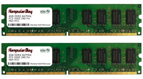 Komputerbay 8GB ( 2 X 4GB ) DDR2 DIMM (240 PIN) 667Mhz PC2 5400 PC2 5300 8 GB CL 5