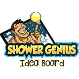 Wet Dry Erase Shower Board Waterproof Notepad with Pen Shower Idea Board to Organize Wet Dry Messages Thoughts and Drawings Brilliant Gift
