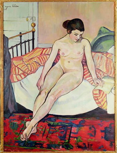 1st Art Gallery Nude With A Striped Blanket, 1922 72X89 [Kitchen]