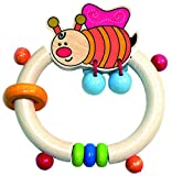 Hess Wooden Baby Toy Figurine Chain Clip On with Rings Lucas