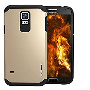 CAMERO Tough Armor ShockProof Mobile Case For Samsung Galaxy S5 (Champagne Gold)