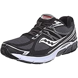 Saucony Men's Omni 14 Road Running Shoe, Black/Grey, 13 M US