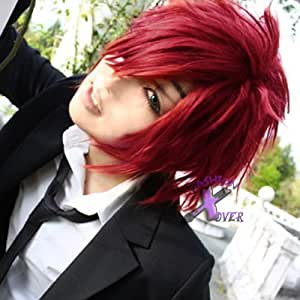 Smile D Gray Man Lavi Anime Short Red Cosplay Wig
