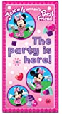 Amscan Disney Minnie Mouse Party Sign, Pink