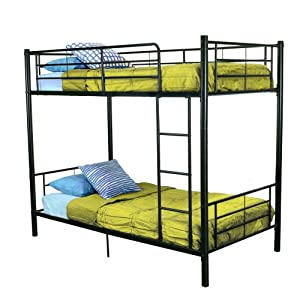 Walker Edison Twin-Over-Twin Bunk Bed Black