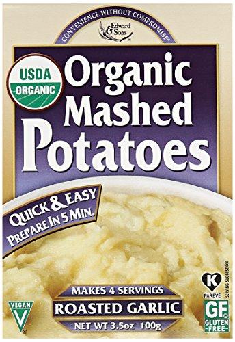 Edward & Sons Organic Mashed Potatoes-Roasted Garlic-3.5 oz