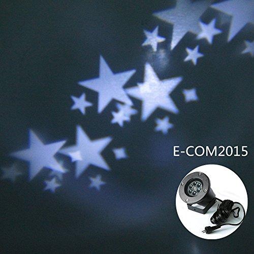 E-COM Star Light,Outdoor&Indoor Waterproof Christmas Halloween Wall Landscape Star Projector For Home,Party,Garden,Room,Birthday,Wedding Night Spotlights Lamp Décor Projector