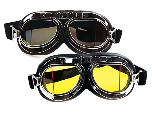 [Careonline Retro Style Motorcycle Goggles Motorbike Flying Scooter Aviator Helmet Glasses] (Costumes By Dusty)