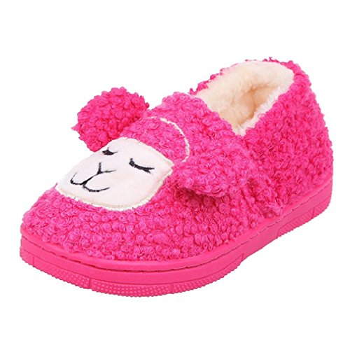 CYBLING Comfort Winter Soft Soled Non-slip Kids Cute Sheep Home Slippers for Baby Toddler Boys Girls (Spongebob House Shoes compare prices)