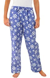 Del Rossa Women's 100% Cotton Flannel Pajama Pants - Sleep Bottoms