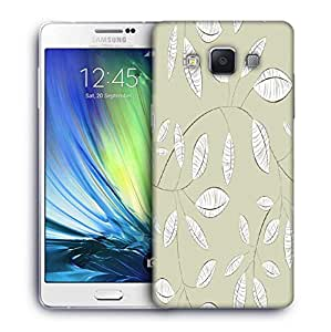 Snoogg White Leaves Designer Protective Phone Back Case Cover For Samsung Galaxy A7