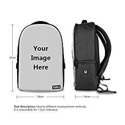 FOR U DESIGNS Fashion 18 Inch Personalized Custom Outdoor Large Backpack