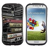 SAMSUNG Galaxy S4 IV / i9500 / i9515 / i9505G / SGH-i337 , Helium-Star - Einzigartige Muster Anti-Skid-Hybride Auswirkung Shockproof Schutz Hülle Case (AlteMusik)