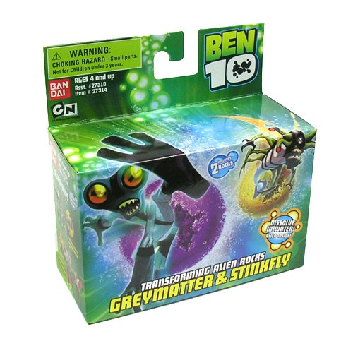 Picture of Bandai Ben 10 (Ten) Transforming Alien Rocks 1 Inch Mini Figure Set Stinkfly & Grey Matter (B000J6FTG0) (Ben 10 Action Figures)