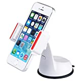Baseus Universal Windshield & Dashboard Mobile Phone Car Mount Holder Cradle fits all 3.5 to 5.5 smart phones White JC131