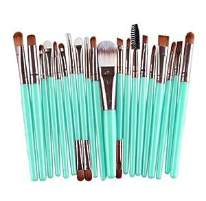 Shensee New 20 pcs Makeup Brushes Set tools Make-up Toiletry Kit Wool Make Up Face Brush (Rose Gold)