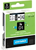 Dymo D1 Standard Labelling Tape 12mm x 7m - Black on White