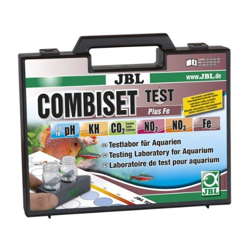 JBL Testkoffer für Wasserwerte inkl. Eisentest in bepflanzten Aquarien, Test Combi Set Plus Fe, 25500