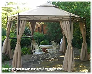 Claydon Hexagonal Garden Party Gazebo