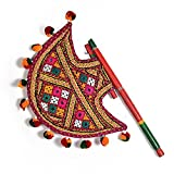 DITI ENTERPRISES Kutch Gujarati Art Work Ethnic Colorful Hand Fan 371