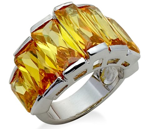 Jodie Rose Silver Colour Metal  Topaz Colour