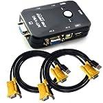 ieGeek USB KVM Switch Box + VGA USB C...