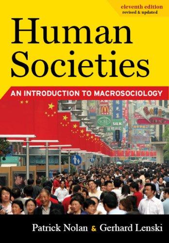 Human Societies: An Introduction to Macrosociology,...