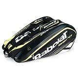 Babolat Aero Tennis Racquet Holder X12 (Black/Yellow)