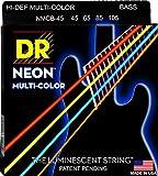 DR ベース セット弦 NEON ニッケルプレート ミディアム 45-105 NMCB-45 マルチカラー