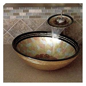 Tiny Vessel Sink : ... Glass Vessel Bathroom Sink - Small Vessel Sinks - Amazon.com