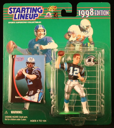 KERRY COLLINS / CAROLINA PANTHERS 1998 NFL Starting Lineup Action Figure & Exclusive NFL Collector Trading Card - 1
