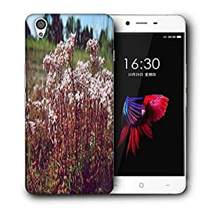Snoogg White Flower Printed Protective Phone Back Case Cover For OnePlus X / 1+X
