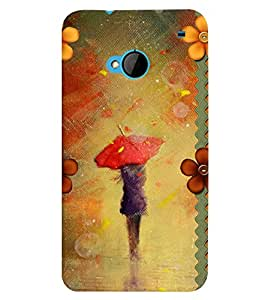 Fuson 3D Printed Girly Designer back case cover for HTC One M7 - D4350