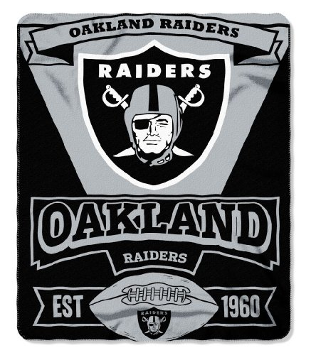Oakland Raiders 50X60 Fleece Blanket - Marque Design