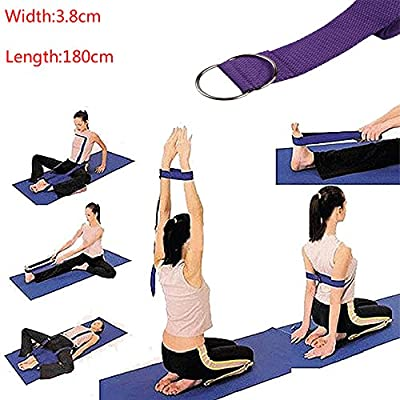 DODOING Yogagurt Sport Yoga Stretch Strap D-Ring Gürtel Gym Taille Bein Fitness 180 cm verstellbar Yoga Gürtel