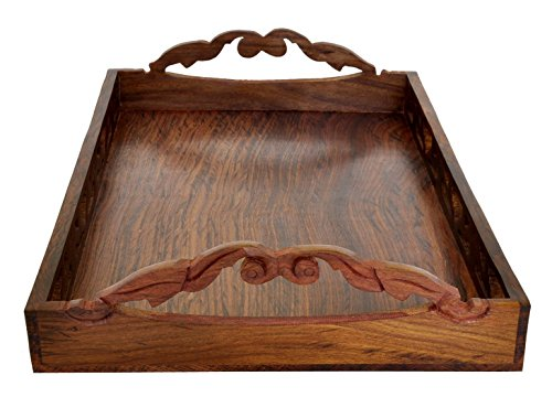 Kitchen deals wooden trays with handles decorative for Wooden canape trays